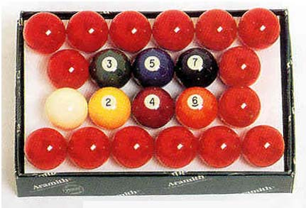 "2 1/8"" Belgian Aramith Snooker Ball Set (22 Ball Set) from Imperial International"