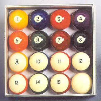"2 1/4"" ""Aramith Crown Style"" Belgian Aramith Standard Billiard Ball Set (16 Ball Set) from Imperial Inter"