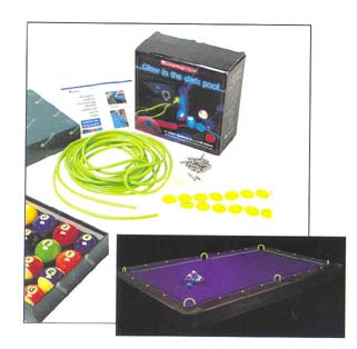 Belgian Aramith Glow in the Dark Kit (Billiard Balls / Tubing / Sights) from Imperial International