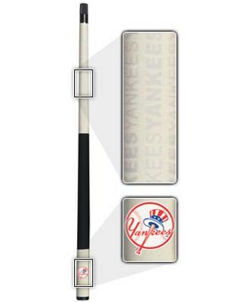 "57"" New York Yankees MLB Team Logo 2 Piece Cue from Imperial International"