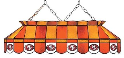 "San Francisco 49ers NFL Licensed 40"" Rectangular Stained Glass Lamp from Imperial International"