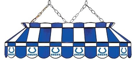 "Indianapolis Colts NFL Licensed 40"" Rectangular Stained Glass Lamp from Imperial International"