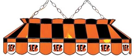 "Cincinnati Bengals NFL Licensed 40"" Rectangular Stained Glass Lamp from Imperial International"