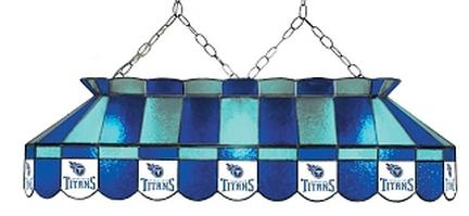 "Tennessee Titans NFL Licensed 40"" Rectangular Stained Glass Lamp from Imperial International"