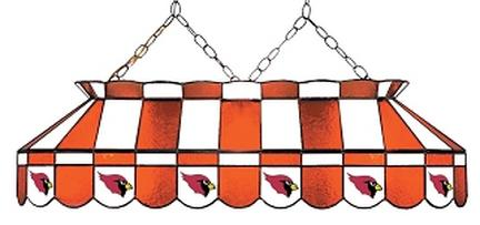 """Arizona Cardinals NFL Licensed 40"""" Rectangular Stained Glass Lamp from Imperial International"""