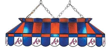 "Atlanta Braves MLB Licensed 40"" Rectangular Stained Glass Lamp from Imperial International"