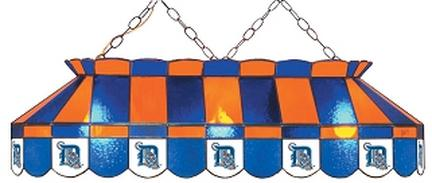 """Detroit Tigers MLB Licensed 40"""" Rectangular Stained Glass Lamp from Imperial International"""