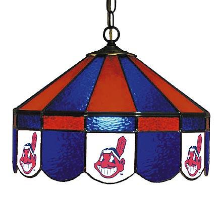 """Cleveland Indians MLB Licensed 16"""" Diameter Stained Glass Lamp from Imperial International"""