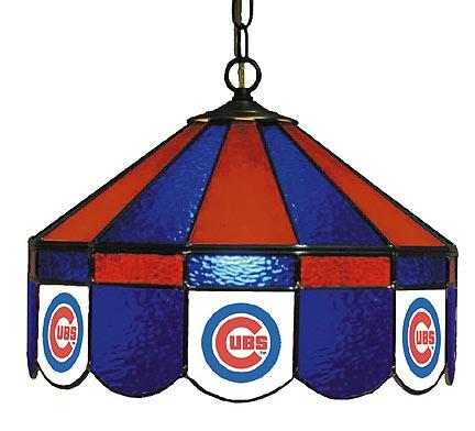 "Chicago Cubs MLB Licensed 16"" Diameter Stained Glass Lamp from Imperial International"