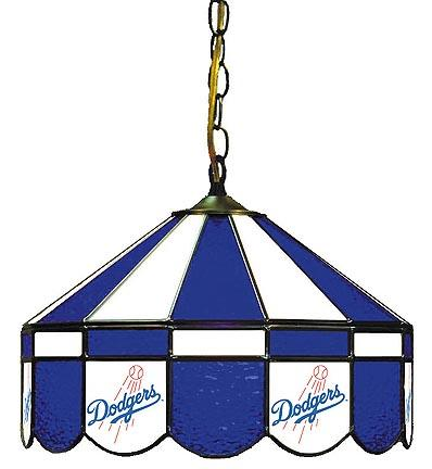 """Los Angeles Dodgers MLB Licensed 16"""" Diameter Stained Glass Lamp from Imperial International"""
