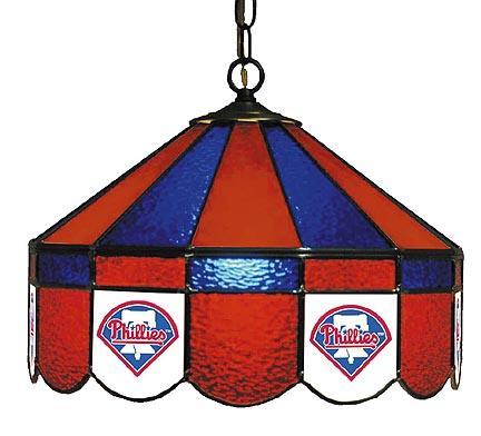 "Philadelphia Phillies MLB Licensed 16"" Diameter Stained Glass Lamp from Imperial International"
