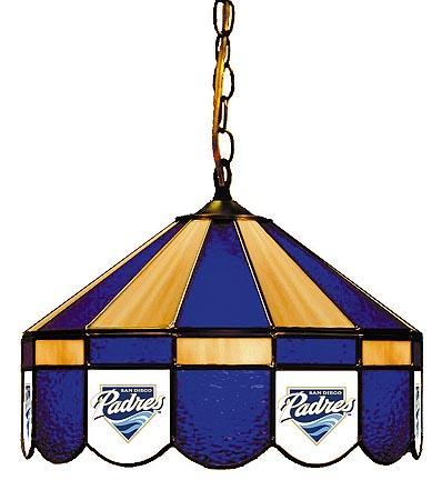 "San Diego Padres MLB Licensed 16"" Diameter Stained Glass Lamp from Imperial International"