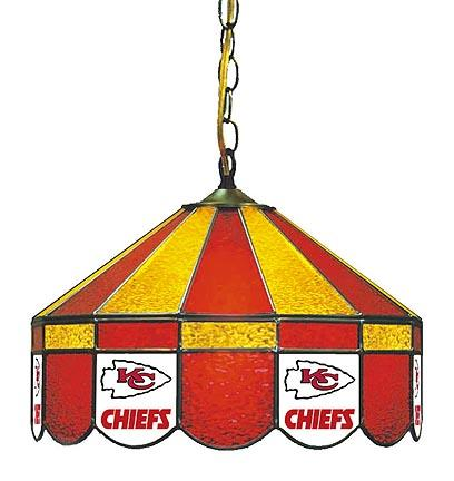 """Kansas City Chiefs NFL Licensed 16"""" Diameter Stained Glass Lamp from Imperial International"""