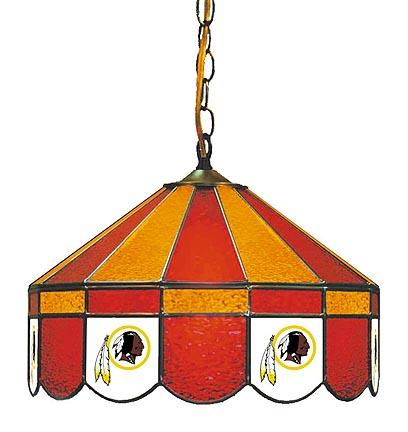 """Washington Redskins NFL Licensed 16"""" Diameter Stained Glass Lamp from Imperial International"""