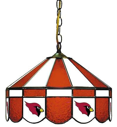 """Arizona Cardinals NFL Licensed 16"""" Diameter Stained Glass Lamp from Imperial International"""
