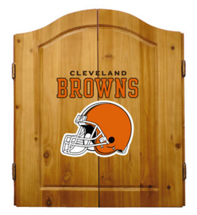 Cleveland Browns NFL Dart Cabinet and Dartboard Set by Imperial International