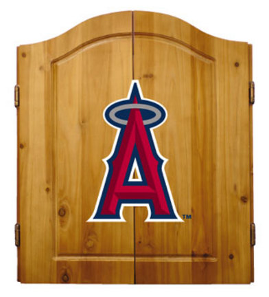 Los Angeles Angels of Anaheim MLB Dart Cabinet and Dartboard Set by Imperial International