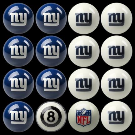 New York Giants NFL Home vs. Away Billiard Balls Full Set (16 Ball Set) by Imperial International
