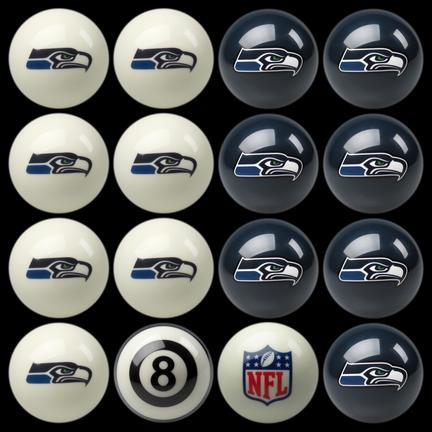 Seattle Seahawks NFL Home vs. Away Billiard Balls Full Set (16 Ball Set) by Imperial International
