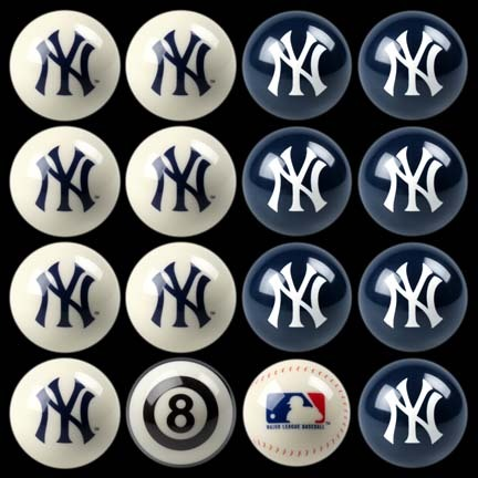 New York Yankees MLB 8-Ball Billiard Set IMP-50-2101