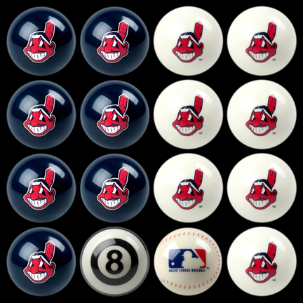 Cleveland Indians MLB 8-Ball Billiard Set IMP-50-2104