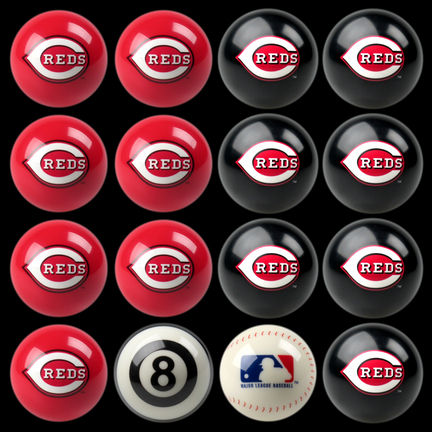 Cincinnati Reds MLB Home vs. Away Billiard Balls Full Set (16 Ball Set) by Imperial International IMP-50-2107
