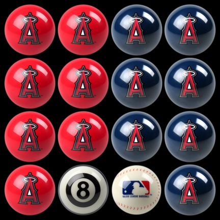Los Angeles Angels of Anaheim MLB Home vs. Away Billiard Balls Full Set (16 Ball Set) by Imperial International