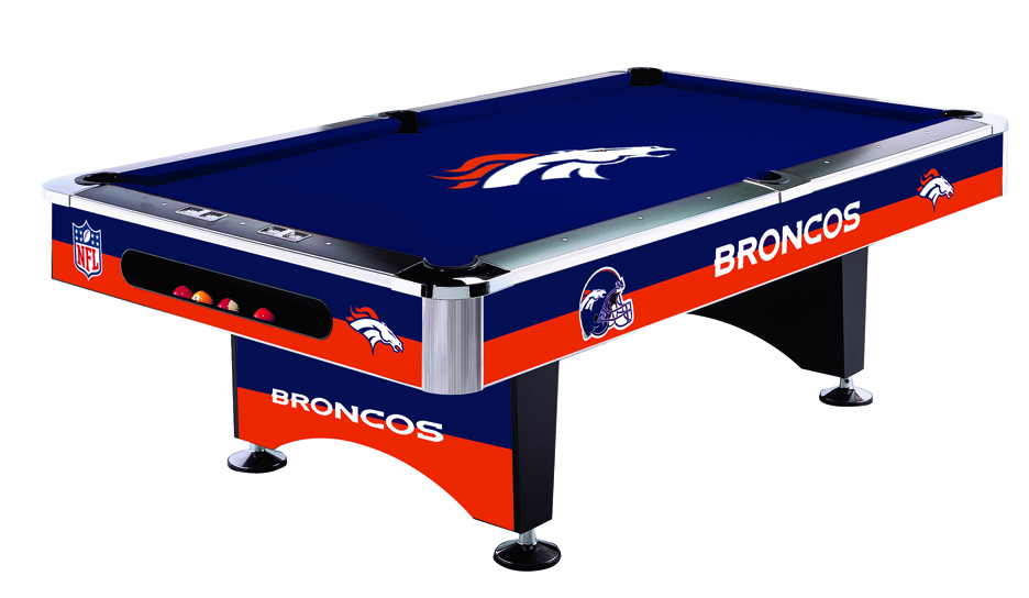 Denver Broncos Licensed Billiards Table with Team Logo Cloth (52-1003) from Imperial International