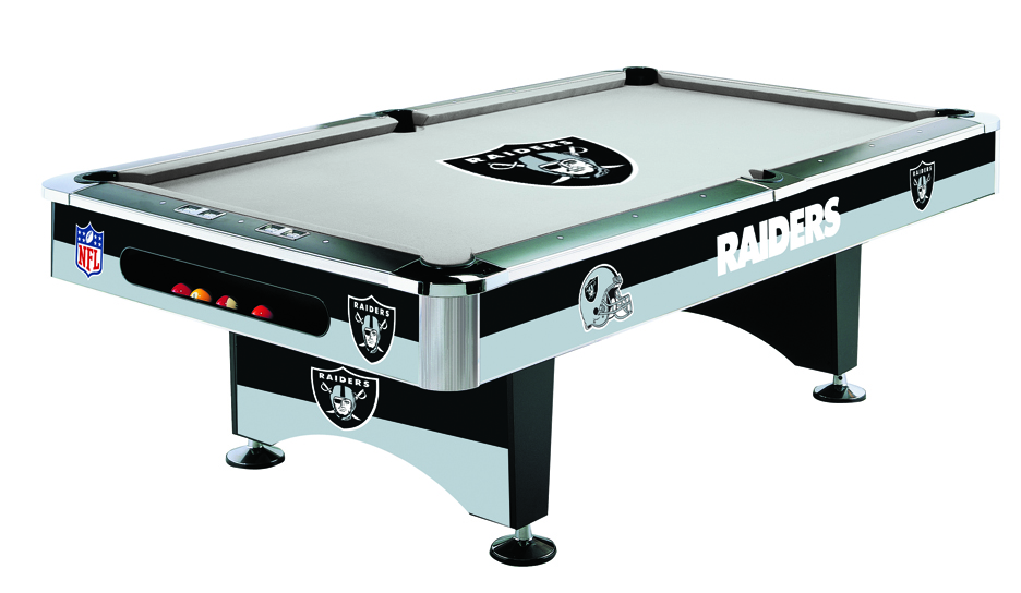 Oakland raiders pool tables price compare for Table 52 prices