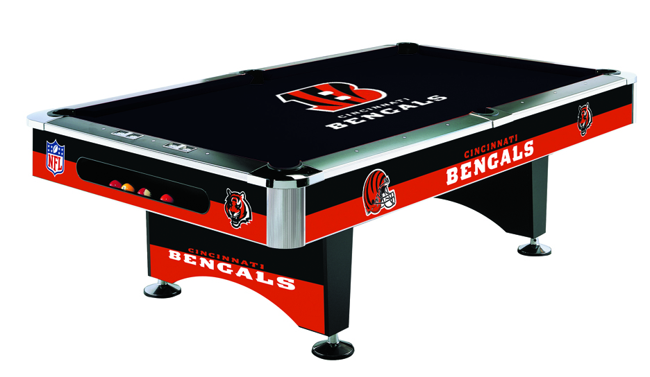 Cincinnati bengals pool table bengals billiards table for Table 52 prices