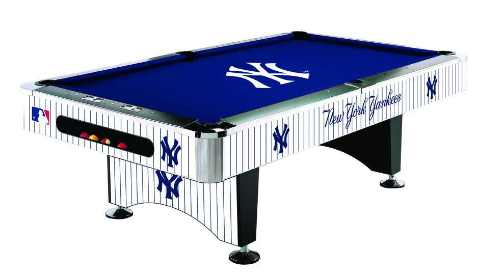 New york yankees pool table yankees billiards table for Table 52 prices