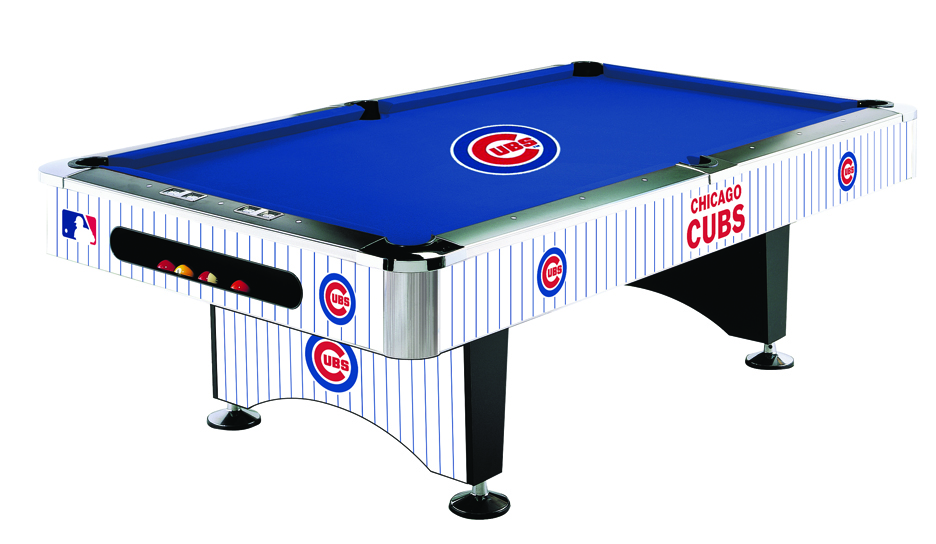Chicago Cubs Licensed Billiards Table with Team Logo Cloth (52-2005) from Imperial International