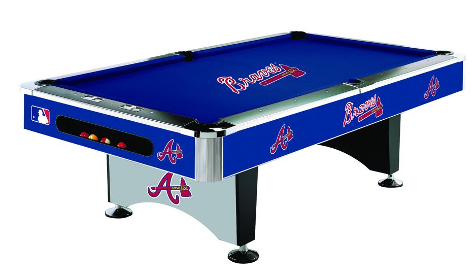 Atlanta braves pool table braves billiards table braves for Table 52 prices