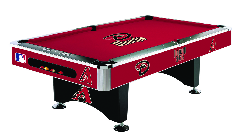 Arizona Diamondbacks Licensed Billiards Table with Team Logo Cloth (52-2022) from Imperial International