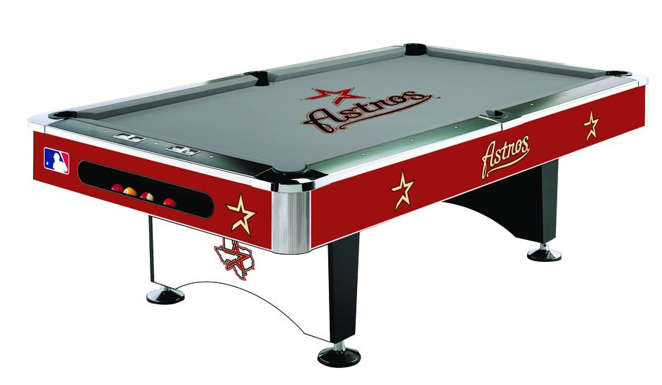 Houston astros pool table astros billiards table astros for Table 52 houston
