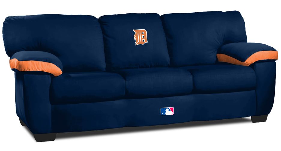 Detroit tigers mlb collectibles and posters Baseball sofa