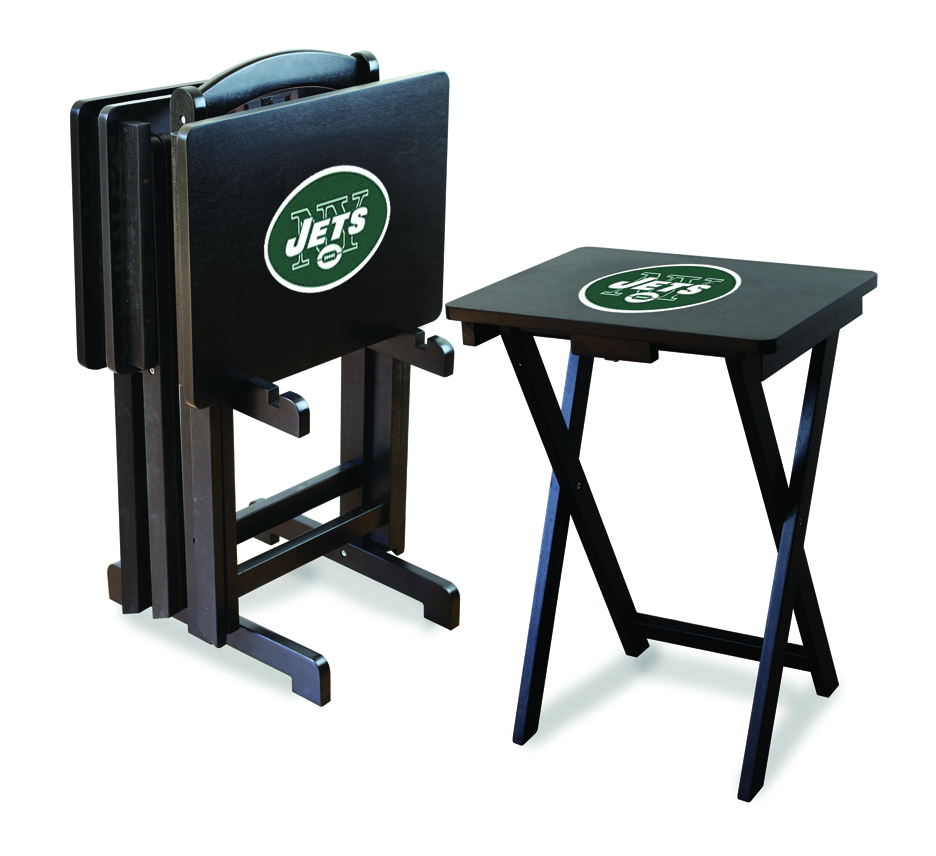 New York Jets TV Trays with Stand from Imperial International (Set of 4)