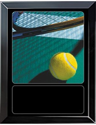 Tennis Court Sports Scene Medium Plaque