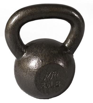 J Fit Cast Iron Kettlebell - 35 lbs