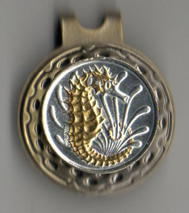 Singapore 10 Cent 'Sea Horse' Two Tone Coin Ball Marker