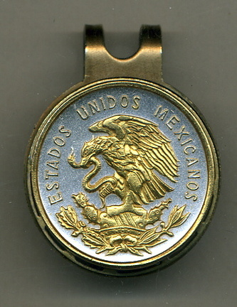 Mexican 10 Centavo 'Eagle' Two Tone Coin Golf Ball Marker