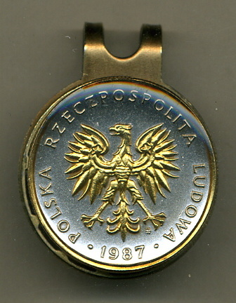 Polish 5 Zlotych 'Eagle' Two Tone Coin Golf Ball Marker