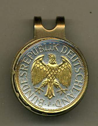German 1 Mark 'Eagle' Two Tone Coin Golf Ball Marker