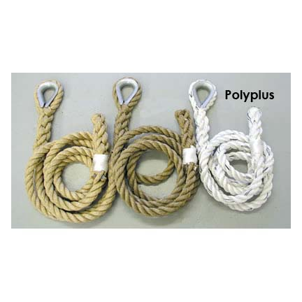 "2"" x 18' Polyplus / Rope Eye Indoor Adventure / Traverse Climbing Rope"