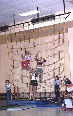 12' W x 18' H Indoor Climbing Net