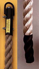 Unmanila Climbing Rope with Polyboot End - 18 Feet Long