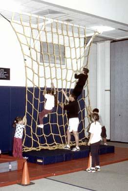 12' W x 14' H Heavy-Duty Indoor Climbing Net
