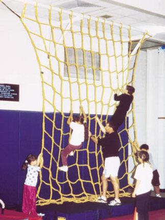 10' W x 10' H Heavy-Duty Indoor Mesh Climbing Net