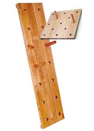 """14""""W x 60""""H Vertical High School Peg Board"""