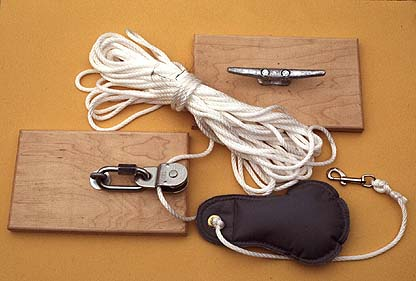 Hoist for Climbing Ropes or Nets